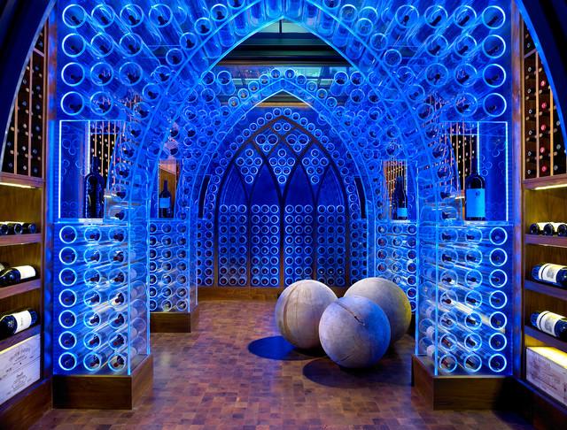 chris-lee-homes-blue-LED-lighting-wine-cellar